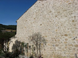 Finished Lime Render (Chaux) wall seen from a different angle