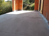 Terrace screeded
